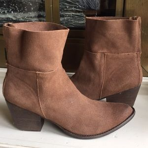 Matisse tan leather Suede ankle boots Sz 10
